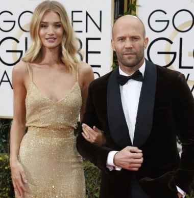 Rosie Huntington Whiteley und Jason Statham bei der Verleihung der 73. Golden Globes im Beverly Hilton Hotel in Beverly Hills / 100116 ***73rd Golden Globe Awards at the Beverly Hilton Hotel in Beverly Hills, January 10th, 2016***